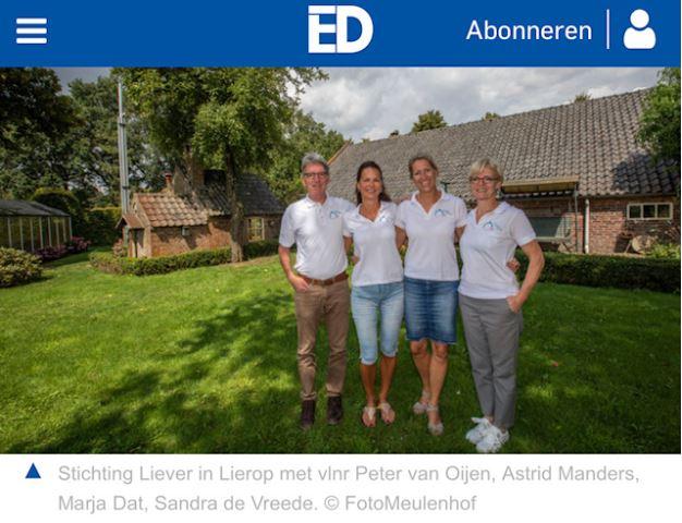 Liever in Lierop in het Eindhovens Dagblad