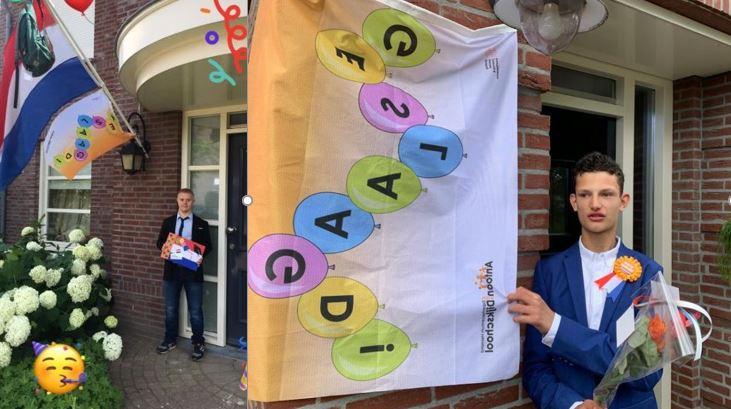 David en Job geslaagd voor Antoon van Dijkschool !